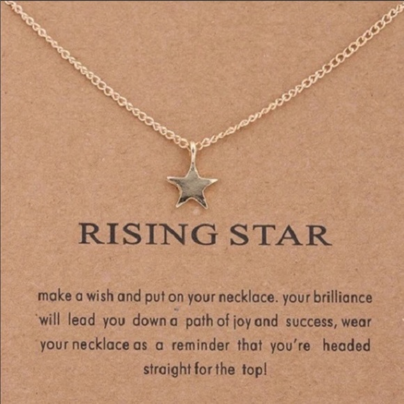 """Salty Cold Brew Jewelry - Dainty """"Rising Star"""" Pendant Necklace"""